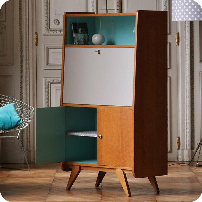meubles vintage rangements secr taire ann es 50 fabuleuse factory. Black Bedroom Furniture Sets. Home Design Ideas