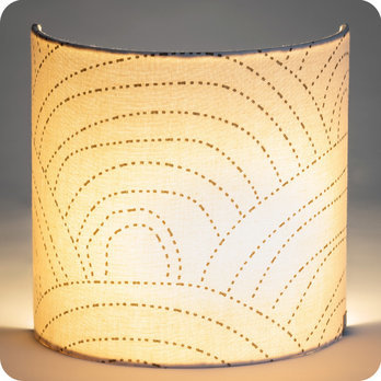 Applique murale demi lune en gaze de coton Colline