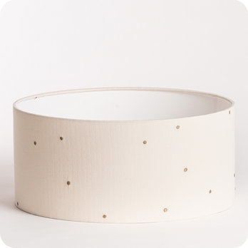 Abat-jour / suspension cylindrique en gaze de coton Stardust off-white